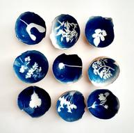 Kelly Barfoot  Cyanotype on egg shells
