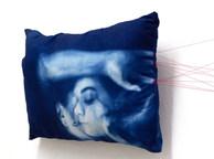 "Sepideh Badakhshanian ""The blue fish"" Cyanotype print on cotton fabric"