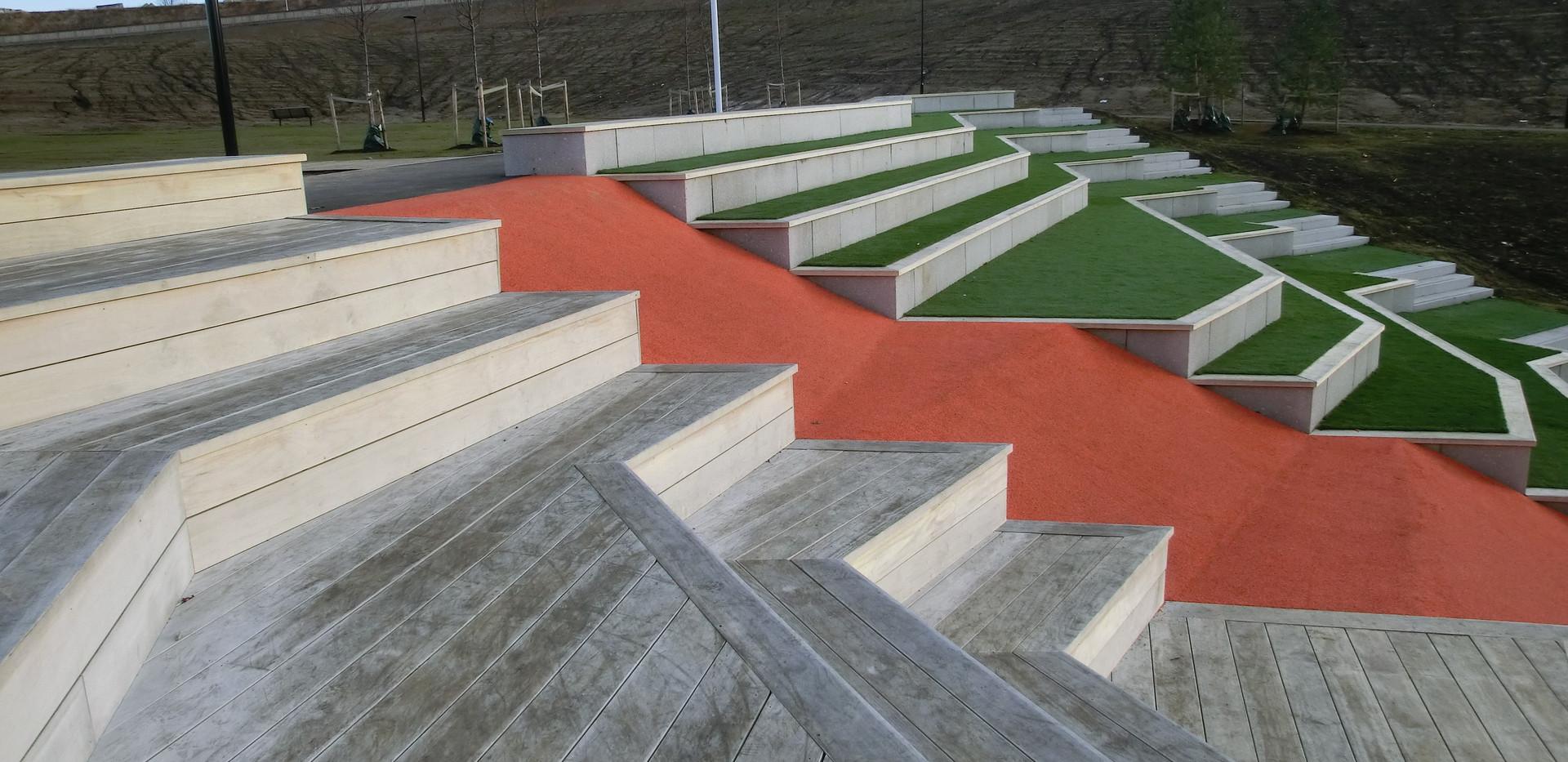 accoya benker terrasse trapp