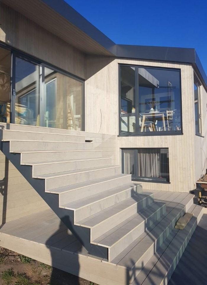accoya Woodlink kledning terrasse