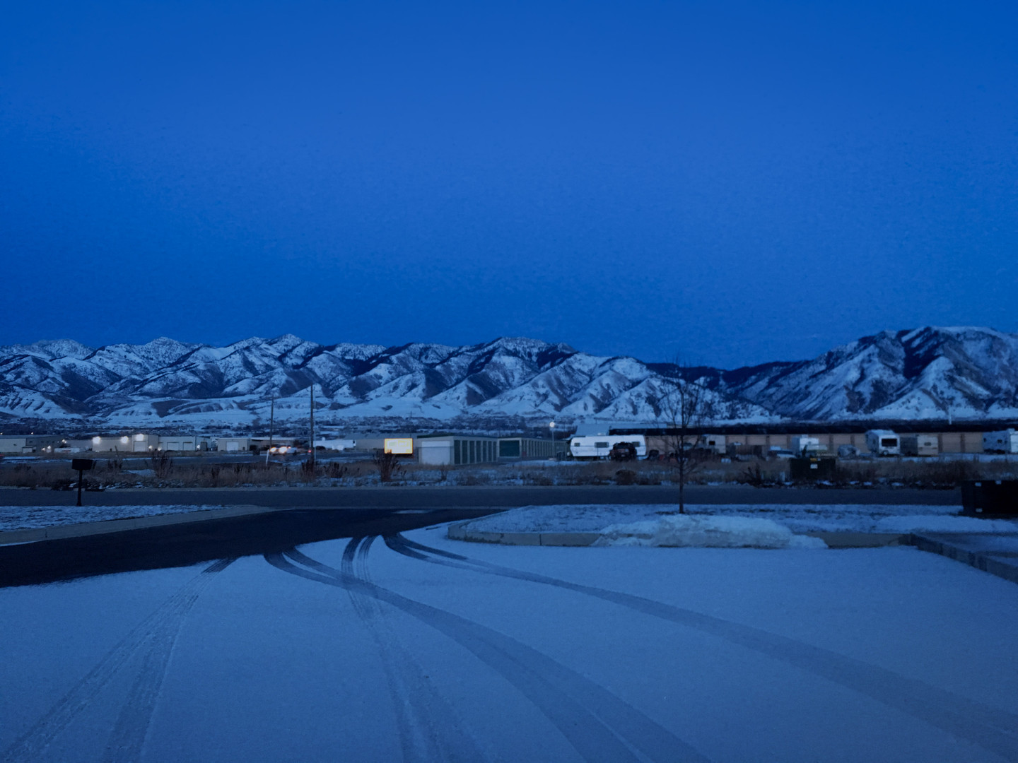 Winter Evening in Cache Valley