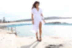 Sarah Jane Knapp White Linen Gown