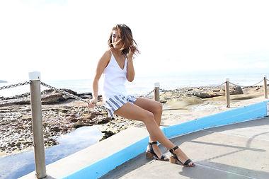Sarah Jane Knapp Amalfi Shorts and White Linen Camisole