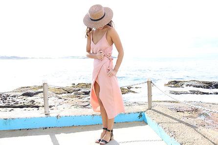 Sarah Jane Knapp Dusky Pink Camisole and Wrap Skirt