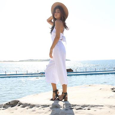 Sarah Jane Knapp White Jumpsuit