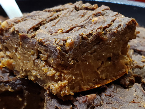 Skillet Chocolate chickpea & Sweet Potato Brownie