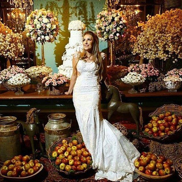 Amo maçã decorando casemento!!