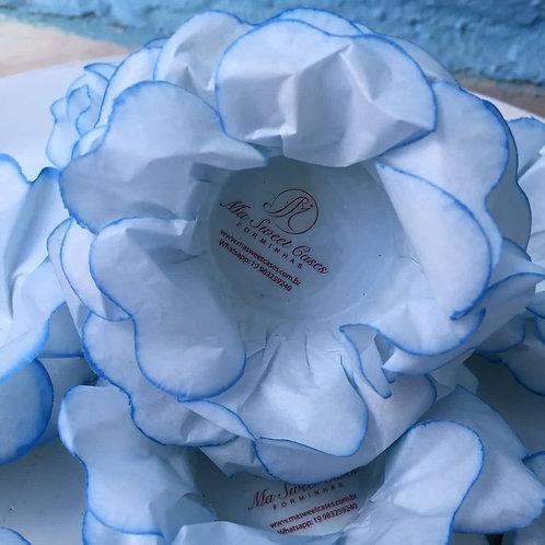 100 Forminhas Delicadinhas Azul Clara