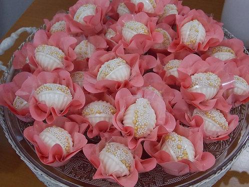 50 Forminhas Margaridas - Rosa Chá