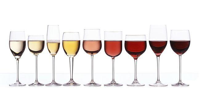 Las copas y el vino
