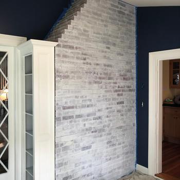 Interior whitewash painting