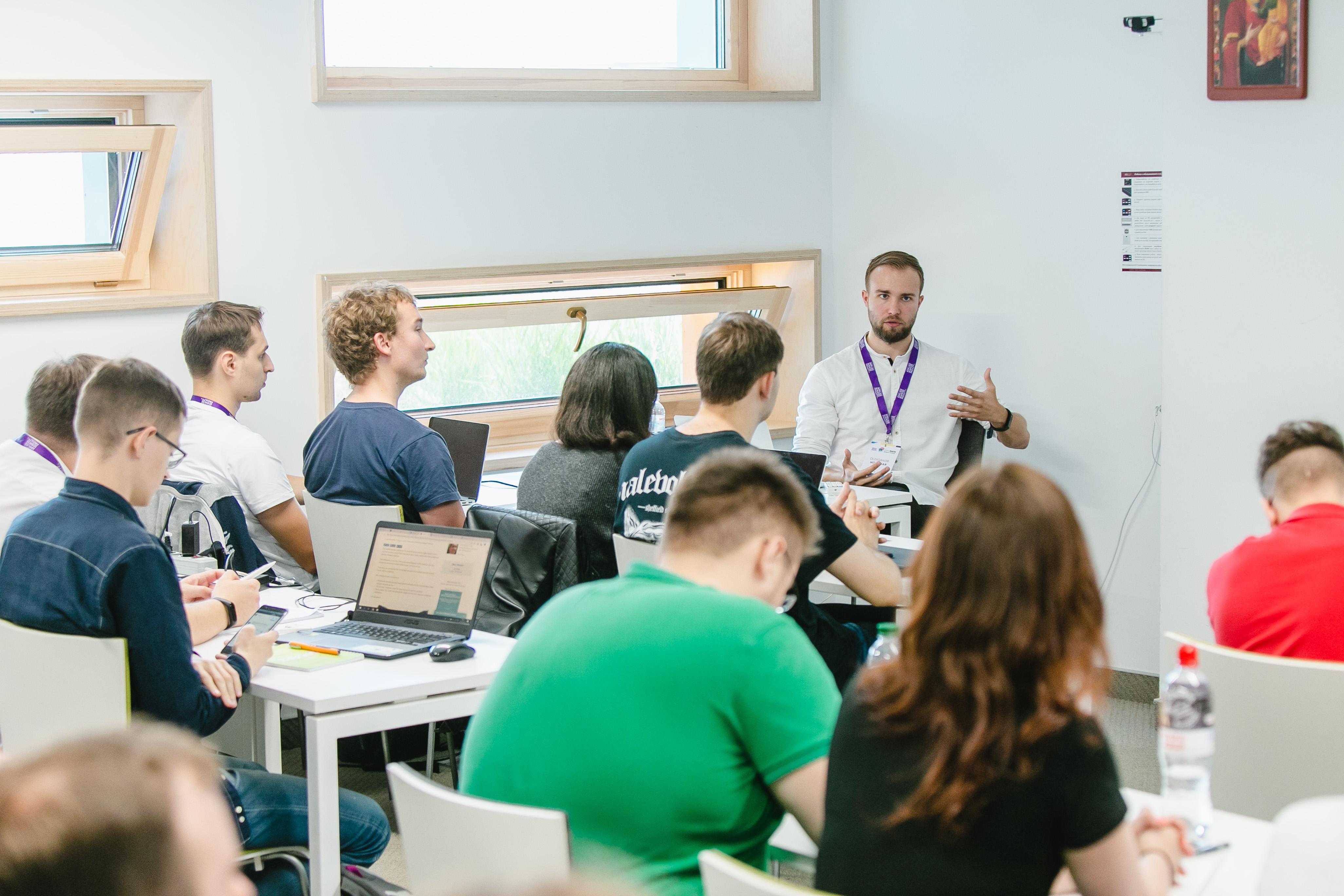 Giving a lecture at Ukrainian Catholic Univesity
