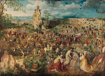 84506-Breughel Carry your Cross Luke 14