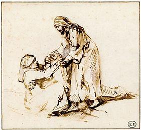 96586-Rembrandt Christ healing siomon mother luke 4.jpg