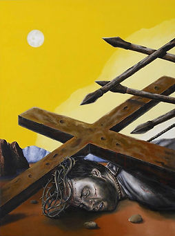 74516-seventh station jesus falls christ
