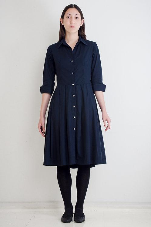 SHIRTWAISTER DRESS - NAVY