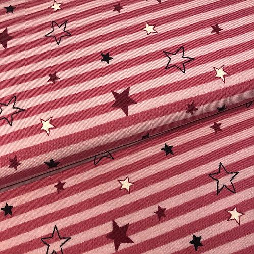 Jersey-Sterne-Streifen 15,90 €/m Abgabeeinheit 0,5m
