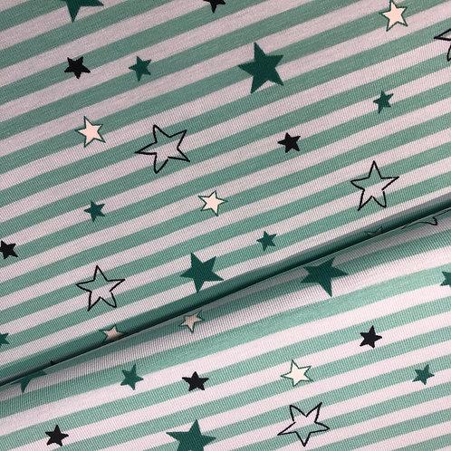 Kopie von Jersey-Sterne-Streifen 15,90 €/m Abgabeeinheit 0,5m
