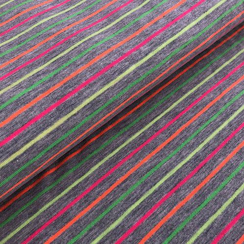 """Jersey """"Streifen neon"""" € 16,90/m Abgabeeinheit 0,5 m"""