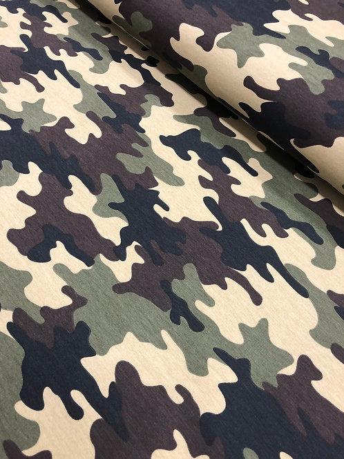 "Jersey ""Camuflage"" 15,90/m Abnahmemenge 0,5m"