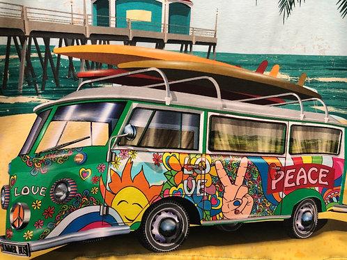 """Jersey """"Bulli-Vespa-Van"""" Flower Power € 16,90/Panel Abnahmeeinheit 1 Stück"""