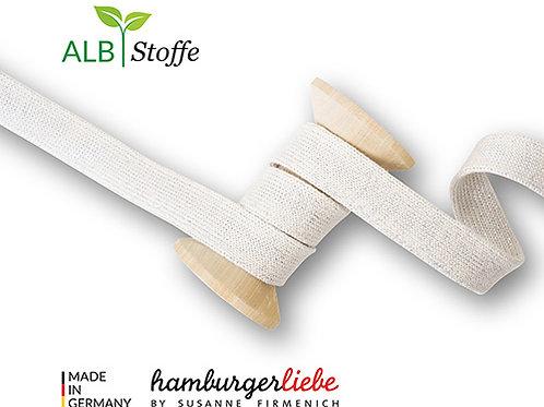 Albstoffe Bio  Flachkordel 2,5 cm breit € 3,50 m Abnahmeeinheit 0,5 m
