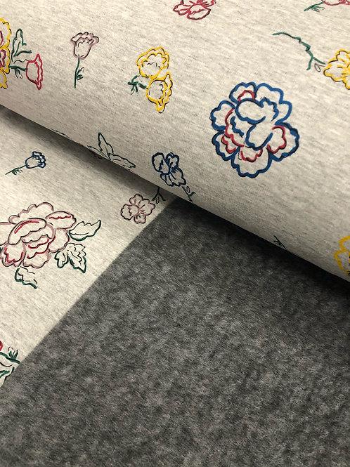 """Happy Fleece """"Blumen"""" € 15,90 Abnahme 1m"""