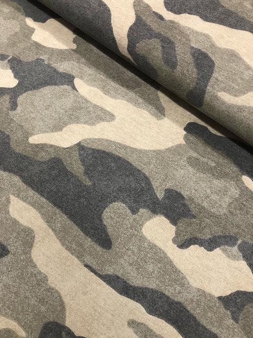 "Sweat brushed ""Camuflage"" 18,90/m Abnahmeeinheit 0,5m"