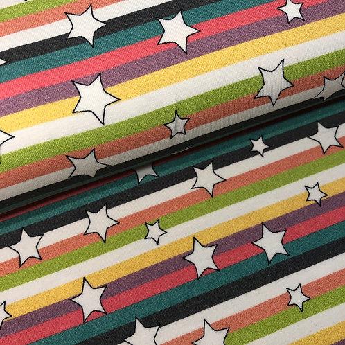 Jersey-Sterne-Streifen 14,90 €/m Abgabeeinheit 0,5m