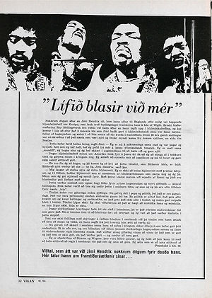 jimi hendrix magazines 1970 death : vikan  october 22, 1970
