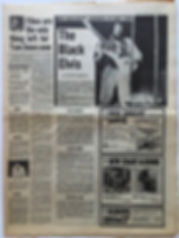 jimi hendrix newspaper/16/3/1968 melody maker the black elvis