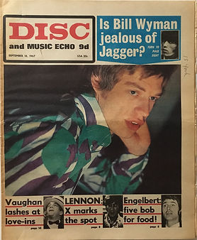 jimi hendrix collector newspapers/disc music echo/16/9/1967