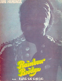 jimi hendrix album memorabilia / songbook rainbow bridge  1971
