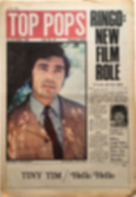 jimi hendrix newspaper 1968/top pops october 19-25  1968