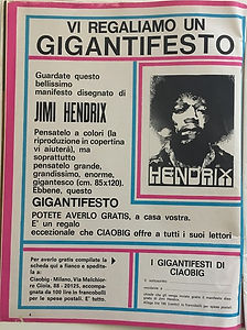 jimi hendrix magazines 1968/ ciaobig may 15, 1968