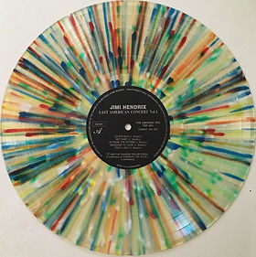jimi hendrix bootlegs vinyls 1970 / swingin' pig :  last american concert vol 1 / multicolour / side a