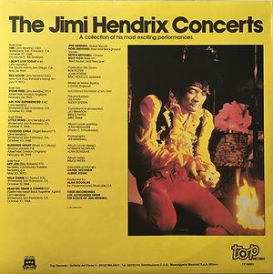 jimi hendrix vinyls album / the jimi hendrix concerts / top records 1987