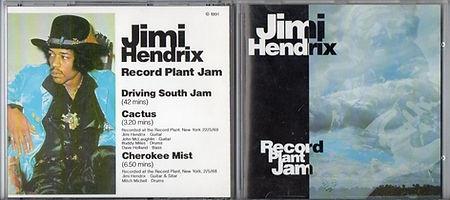 jimi hendrix bootlegs cd/record plant jam /  1991