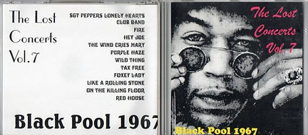 jimi hendrix cd bootlegs/black pool 1967/ the lost concerts  vol  7