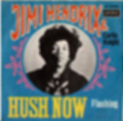 jimi hendrix collector singles vinyls 7/45t/hush now/flashing  germany 1967