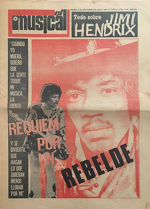jimi hendrix newspapers 1970 / el musical : September 26, 1970