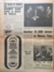 jimi hendrix newspaper/AD concert filmore east may 10 1968