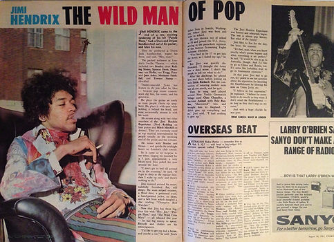 jimi hendrix rotily collector magazine/everybod'y  8/67