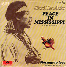 jimi hendrix singles vinyls / peace in mississippi