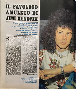 jim hendrix magazine july 13 1968/giovani italy