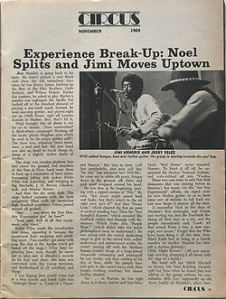 jimi hendrx magazins 1969/circus :experience break-up