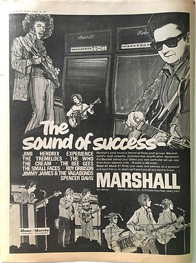 jimi hendrix collector newspaper/melody maker 19/8/1967 /AD the sound of succes marshall