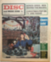 jimi hendrix newspaper 1968/disc music echo december 21 1968