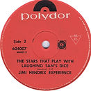 jimi hendrix collector singles vinyls/ the stars that play with laughing sam's dice