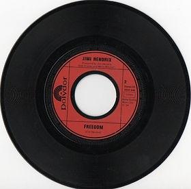 jimi hendrix vinyls singles/freedom germany 1972